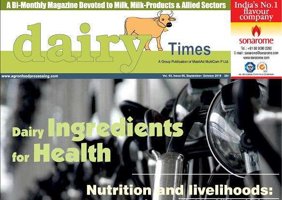 Dairy Times: September 2018 – October 2018  Chief Editor : Dr.J.V.Parekh