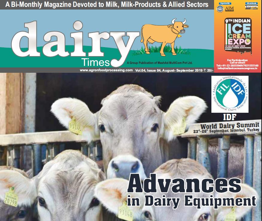 Dairy Times : August 2019- September 2019 | Chief Editor : Dr.J.V.Parekh